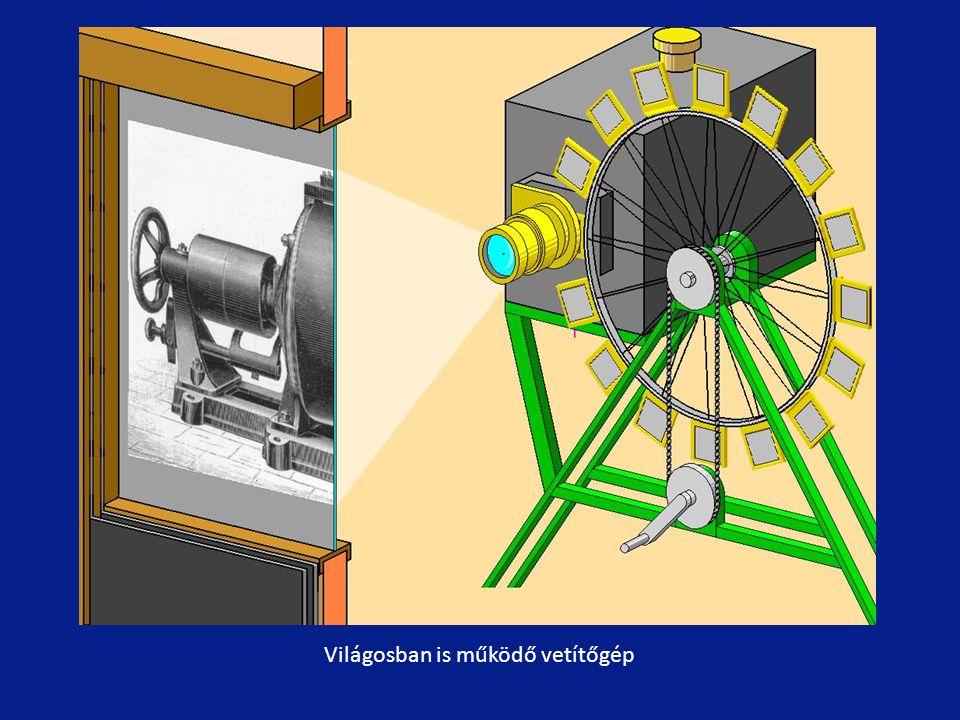Világosban is működő vetítőgép