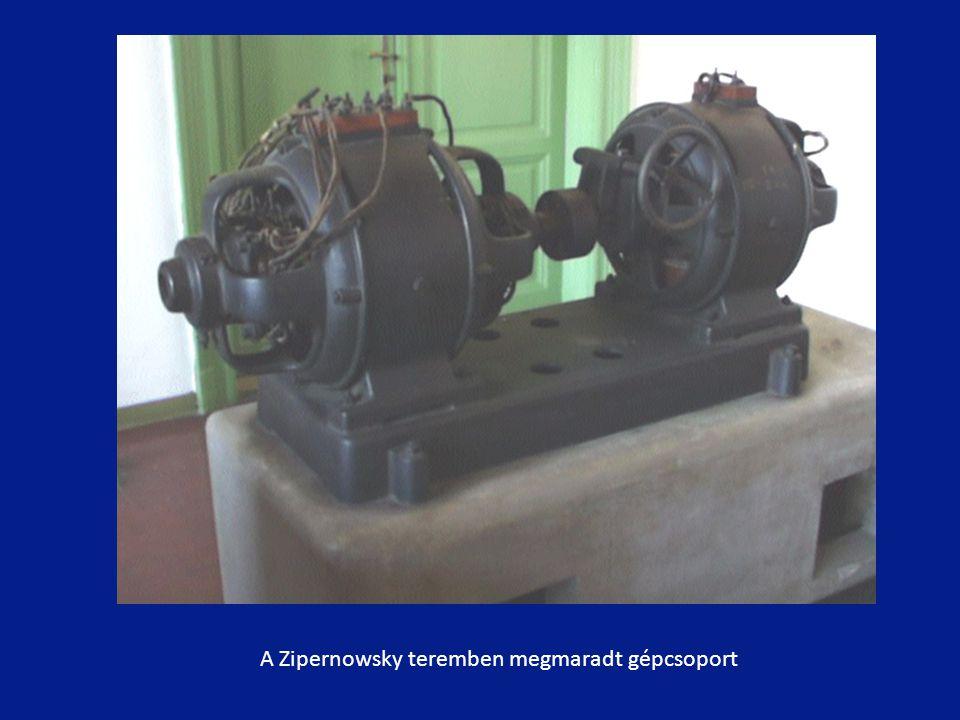A Zipernowsky teremben megmaradt gépcsoport