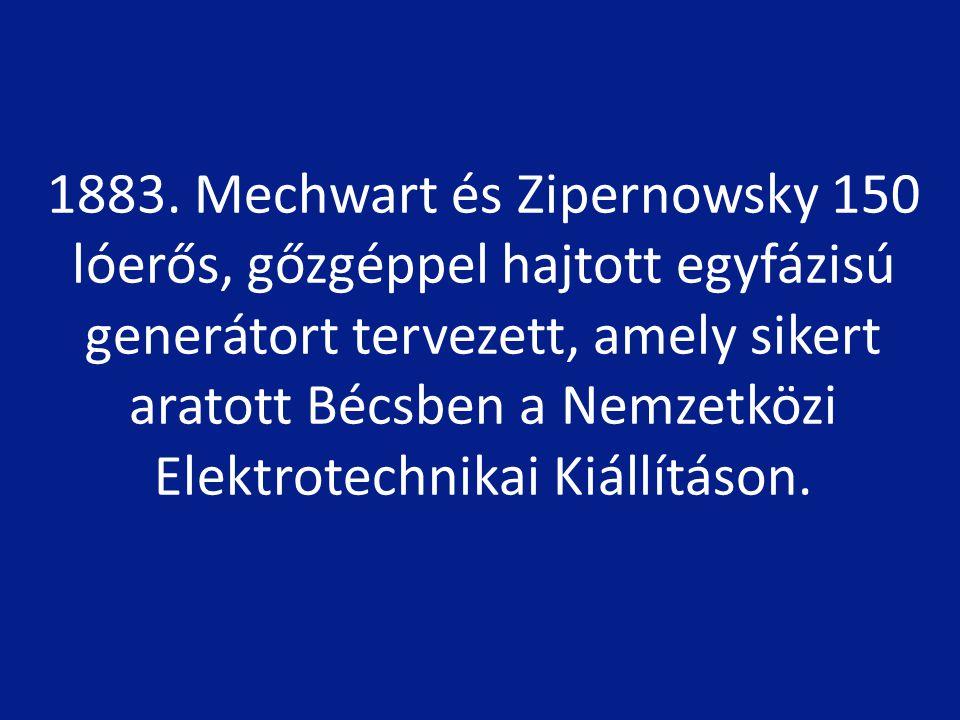 1905-től 1983-ig A Magyar Elektrotechnikai Egyesület elnöke