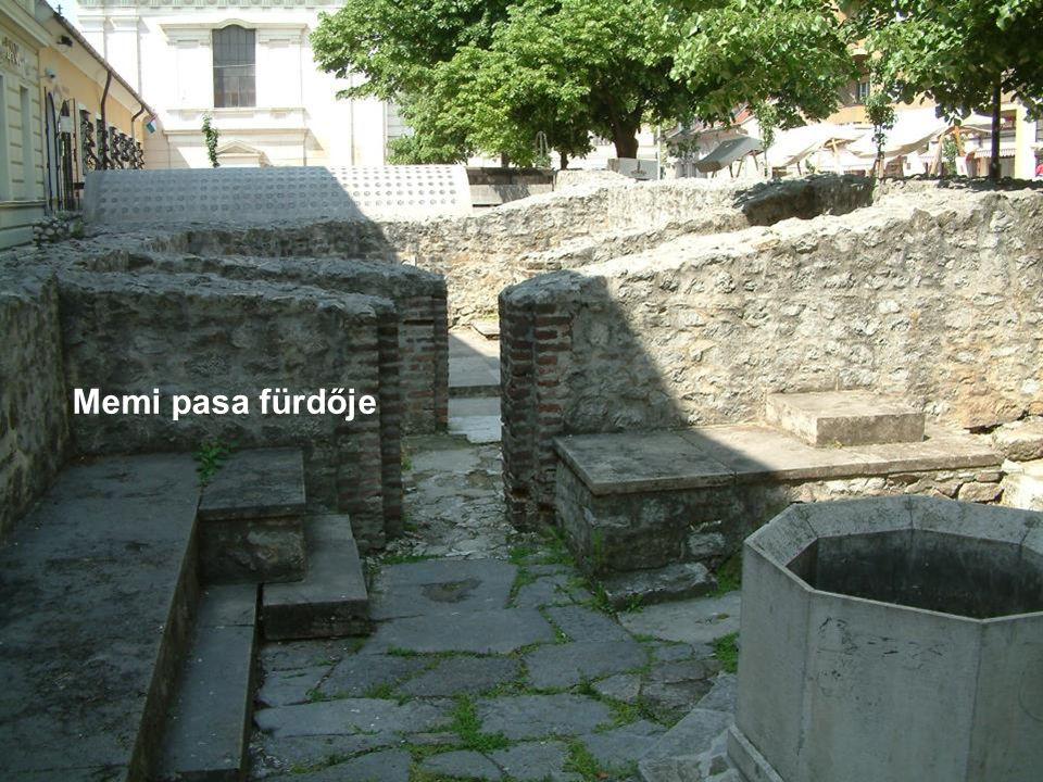 Memi pasa fürdője, 16.sz. második fele, 100 évvel ezelőtt még állt.
