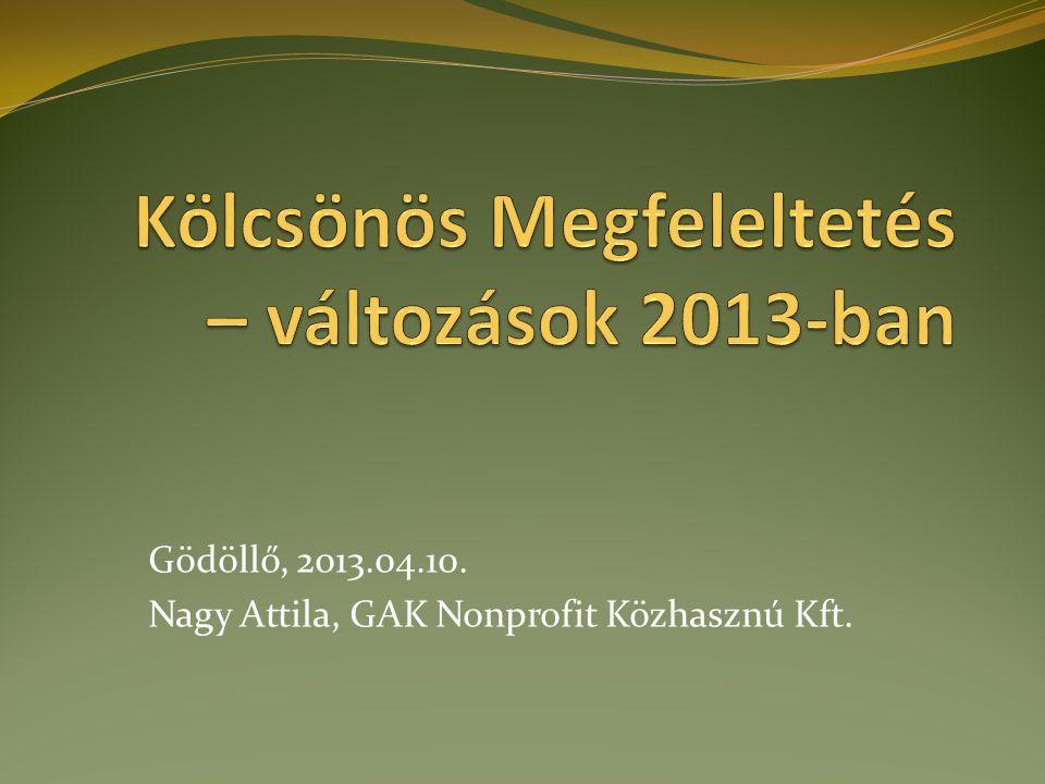 Gödöllő, 2013.04.10. Nagy Attila, GAK Nonprofit Közhasznú Kft.