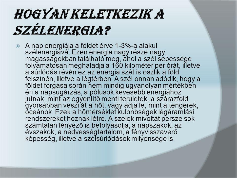 Szélenergia felhasználás Magyarországon és Európában  Biztonsággal állítható, hogy a kelet-európai országok a szélenergia alkalmazása terén jelentősen elmaradottak, de a jóslatok növekedést ígérnek.