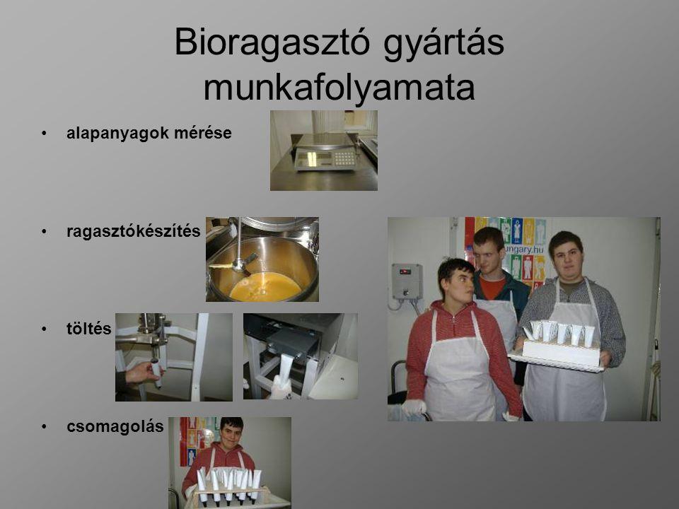 Bioragasztó gyártás munkafolyamata alapanyagok mérése ragasztókészítés töltés csomagolás