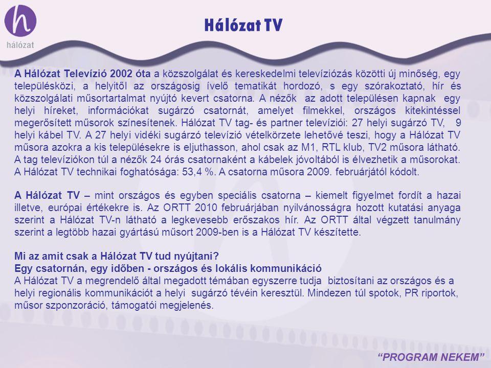 A Hálózat Televízió 2002 óta a közszolgálat és kereskedelmi televíziózás közötti új minőség, egy településközi, a helyitől az országosig ívelő tematik