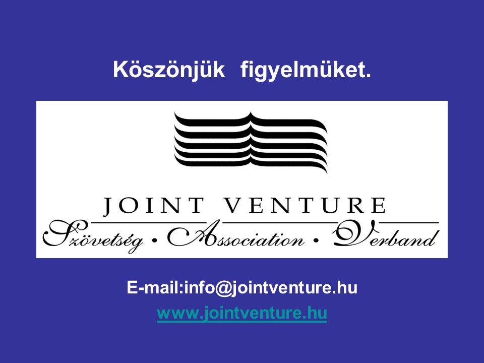 Köszönjük figyelmüket. E-mail:info@jointventure.hu www.jointventure.hu