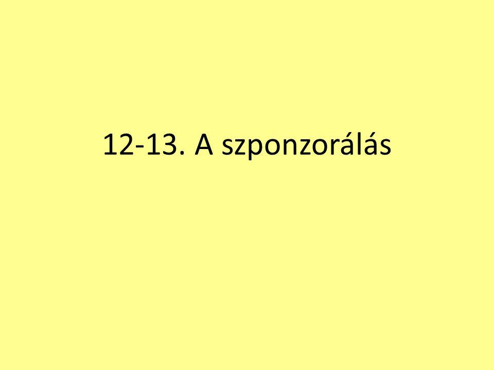 12-13. A szponzorálás