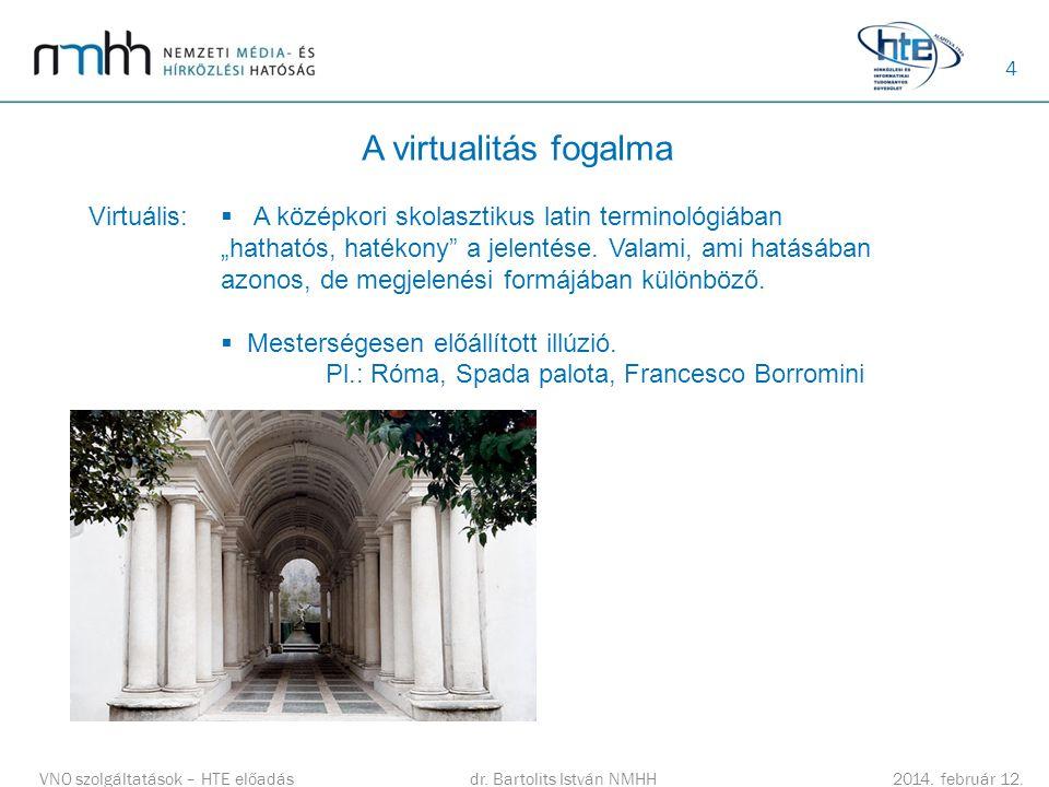 4 A virtualitás fogalma dr.Bartolits István NMHH 2014.