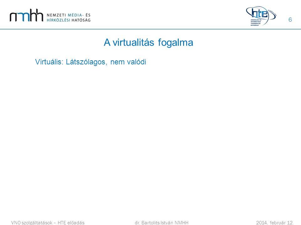 6 A virtualitás fogalma dr.Bartolits István NMHH 2014.