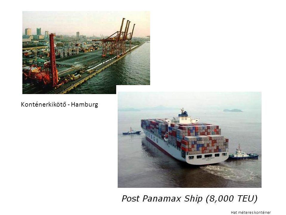 Konténerkikötő - Hamburg Hat méteres konténer