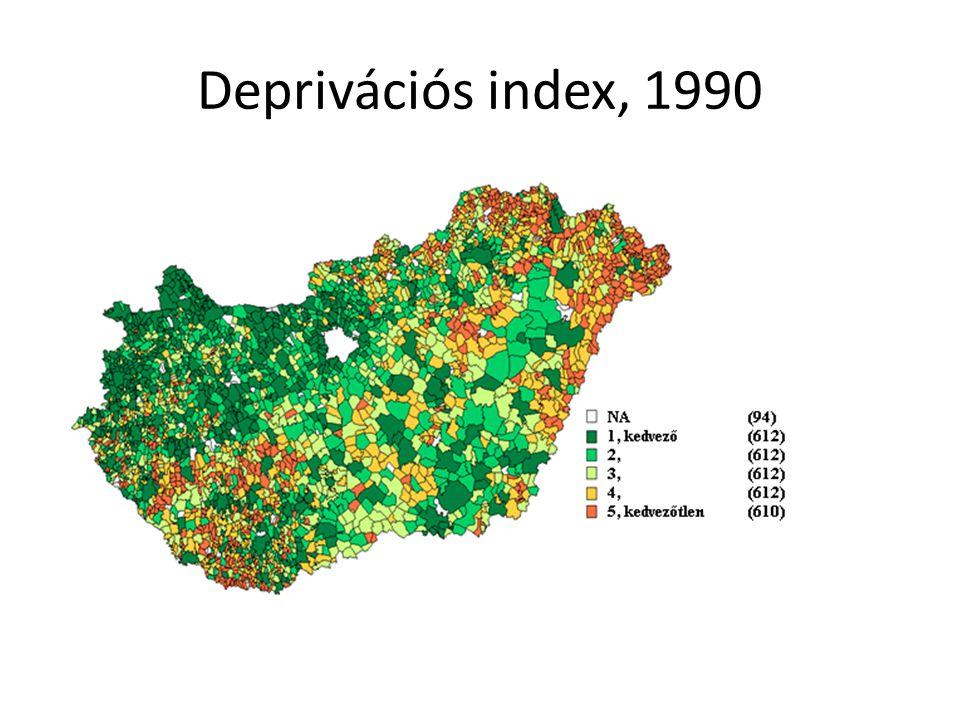 Deprivációs index, 1990