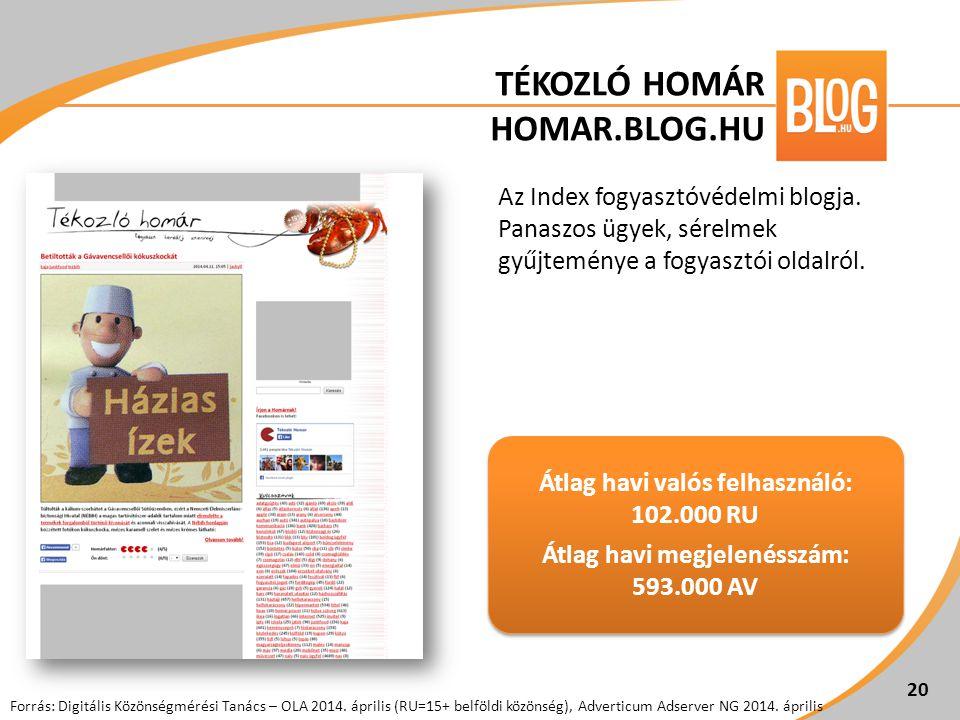 Az Index fogyasztóvédelmi blogja. Panaszos ügyek, sérelmek gyűjteménye a fogyasztói oldalról. 20 Átlag havi valós felhasználó: 102.000 RU Átlag havi m