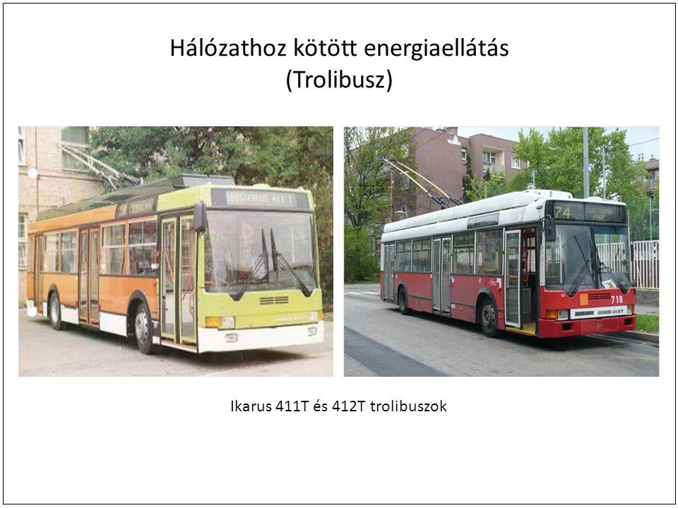 Hálózathoz kötött energiaellátás (Trolibusz) Ikarus 411T és 412T trolibuszok