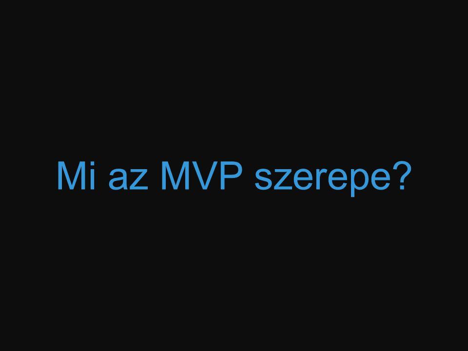 Mi az MVP szerepe?