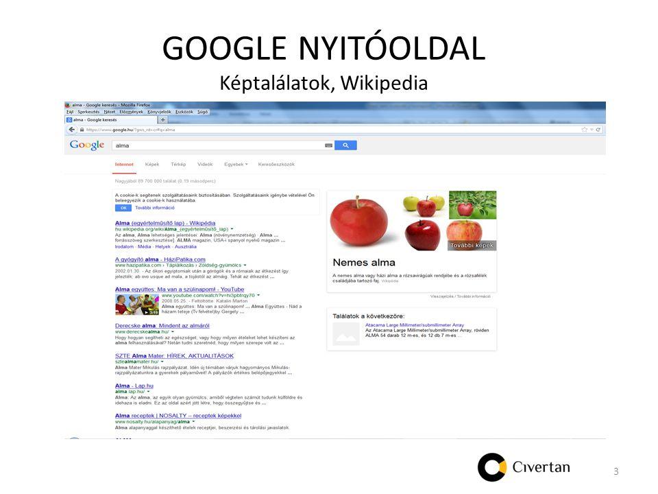 GOOGLE NYITÓOLDAL Képtalálatok, Wikipedia 3