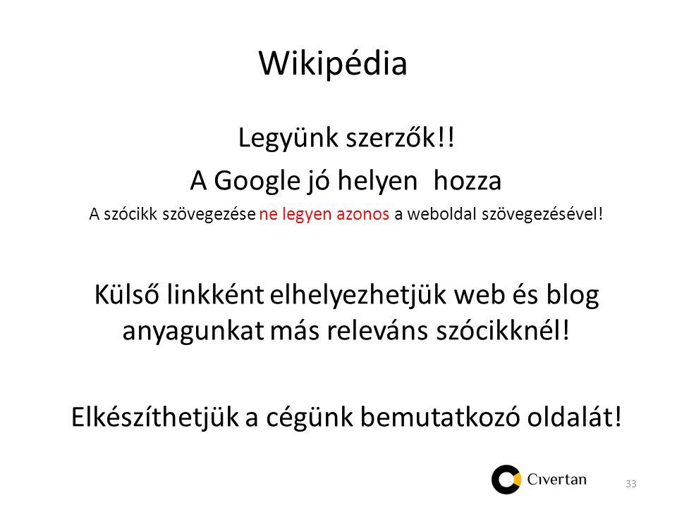 Wikipédia Legyünk szerzők!.
