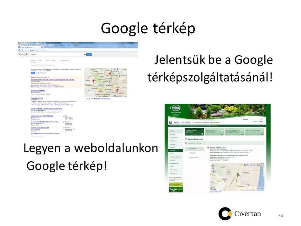 Google térkép Jelentsük be a Google térképszolgáltatásánál.