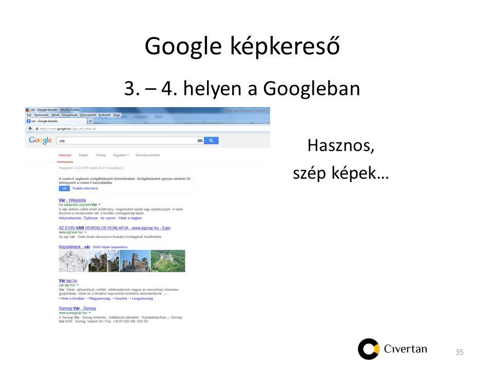 Google képkereső 3. – 4. helyen a Googleban Hasznos, szép képek… 35