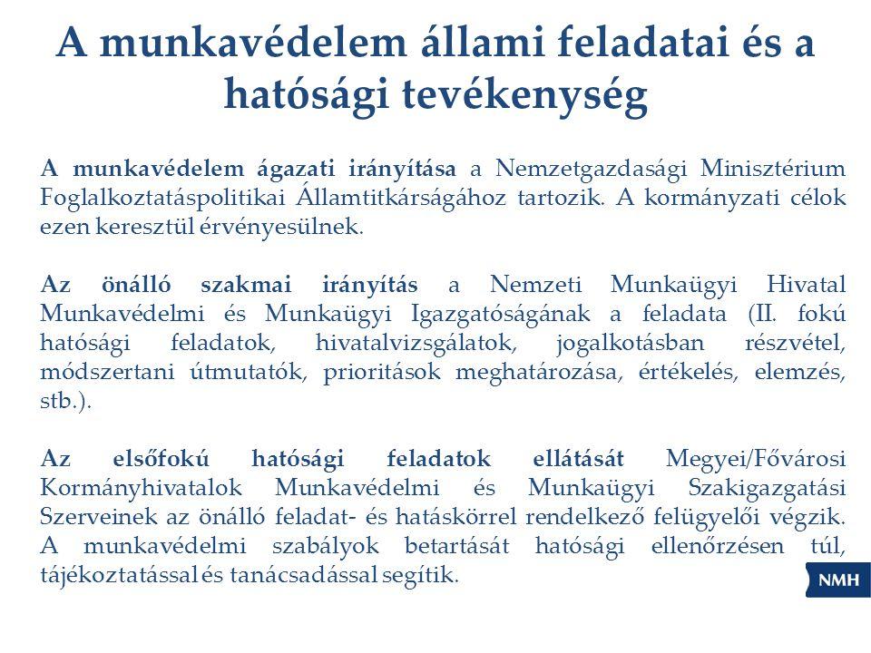 A munkavédelem ágazati irányítása a Nemzetgazdasági Minisztérium Foglalkoztatáspolitikai Államtitkárságához tartozik. A kormányzati célok ezen kereszt