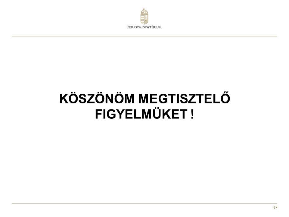 19 KÖSZÖNÖM MEGTISZTELŐ FIGYELMÜKET !