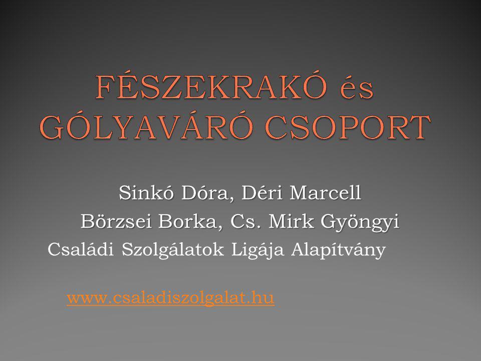 Sinkó Dóra, Déri Marcell Börzsei Borka, Cs. Mirk Gyöngyi Családi Szolgálatok Ligája Alapítvány www.csaladiszolgalat.hu