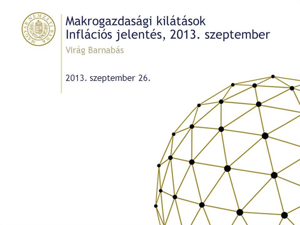 Makrogazdasági kilátások Inflációs jelentés, 2013. szeptember 2013. szeptember 26. Virág Barnabás