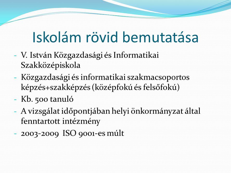 Iskolám rövid bemutatása - V. István Közgazdasági és Informatikai Szakközépiskola - Közgazdasági és informatikai szakmacsoportos képzés+szakképzés (kö