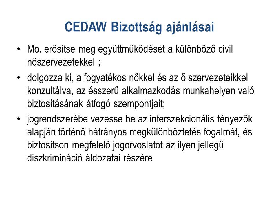CEDAW Bizottság ajánlásai • Mo.