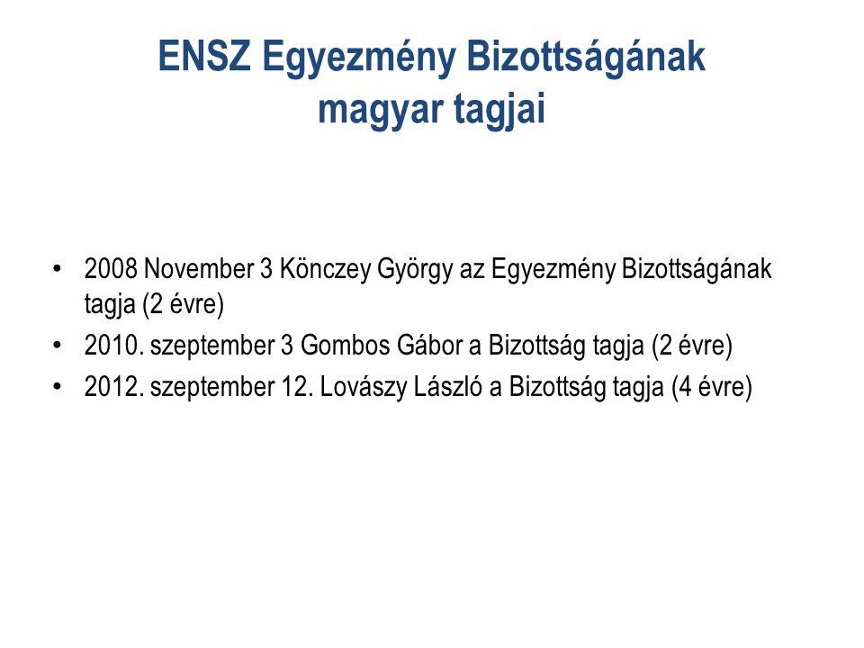 ENSZ Egyezmény Bizottságának magyar tagjai • 2008 November 3 Könczey György az Egyezmény Bizottságának tagja (2 évre) • 2010.