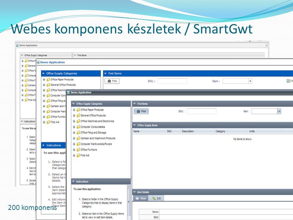 Webes komponens készletek / SmartGwt 200 komponens