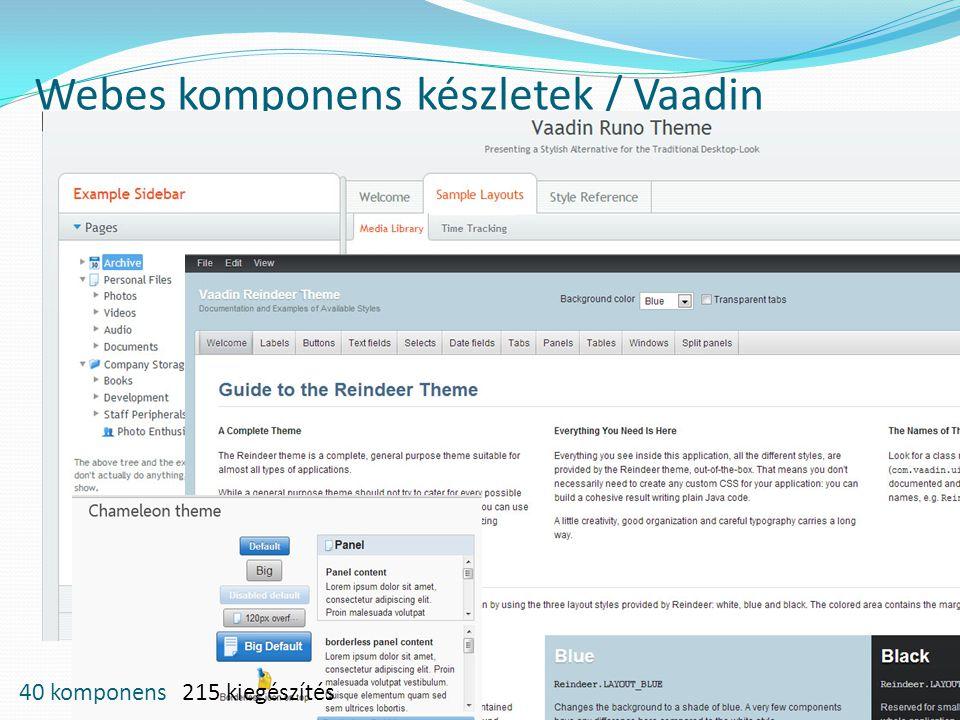 Webes komponens készletek / Vaadin 40 komponens 215 kiegészítés