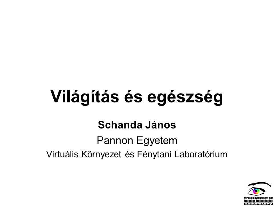 Világítás és egészség Schanda János Pannon Egyetem Virtuális Környezet és Fénytani Laboratórium