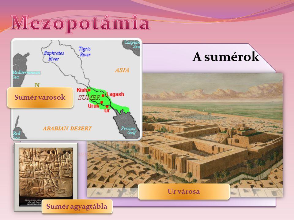 A sumérok Sumér agyagtábla Sumér városok Ur városa
