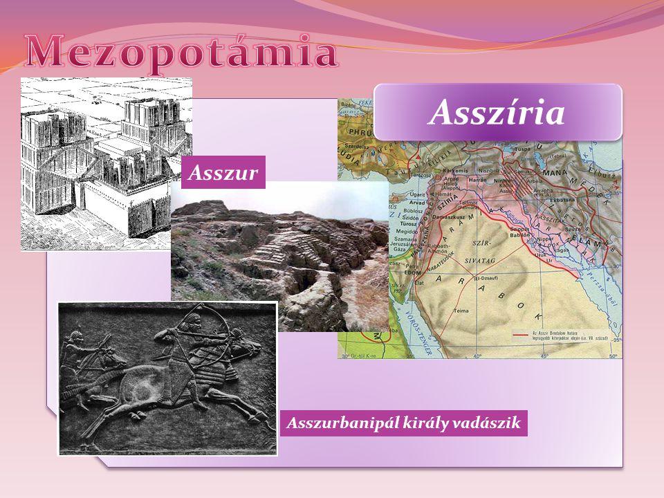 Asszíria Asszur Asszurbanipál király vadászik
