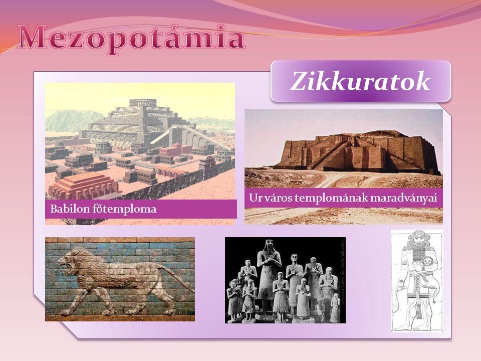 Zikkuratok Ur város templomának maradványai Babilon főtemploma