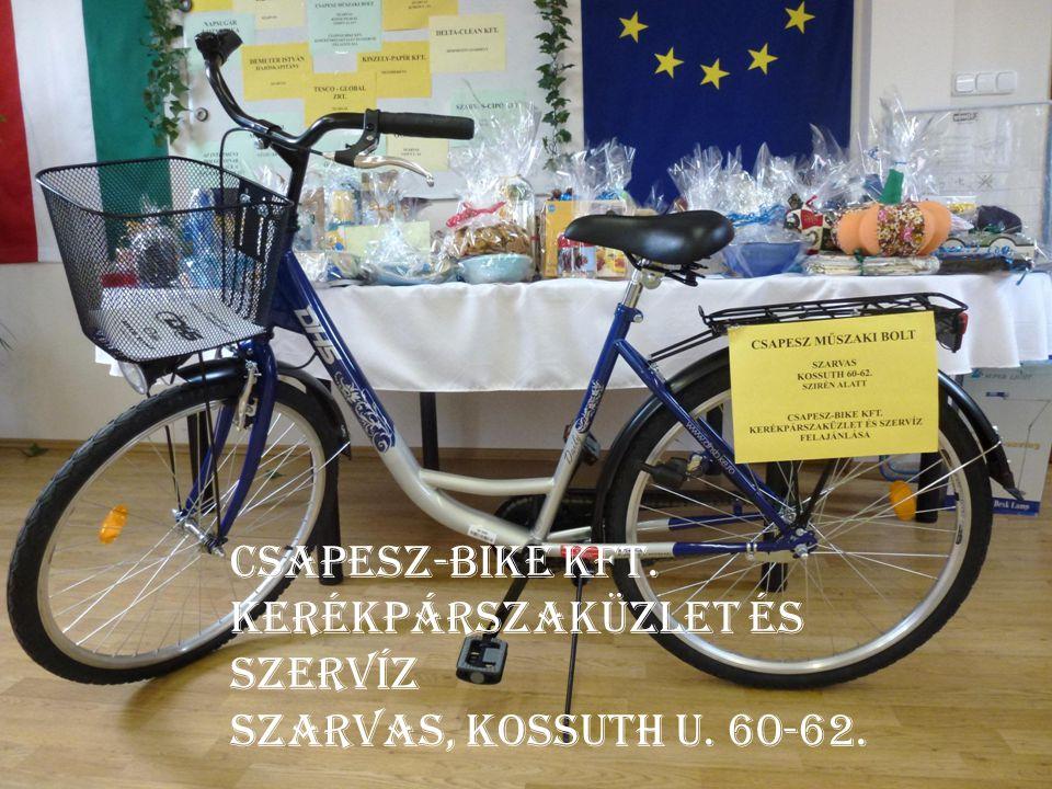 Csapesz-bike kft. Kerékpárszaküzlet és szervíz Szarvas, kossuth u. 60-62.