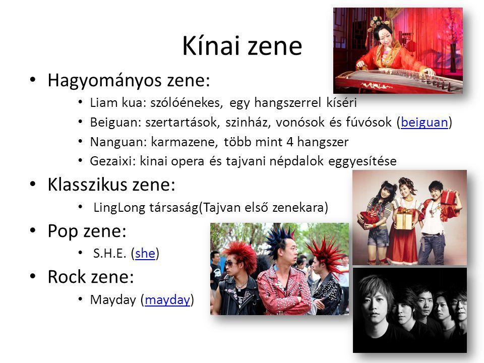 Kínai zene • Hagyományos zene: • Liam kua: szólóénekes, egy hangszerrel kíséri • Beiguan: szertartások, szinház, vonósok és fúvósok (beiguan)beiguan •