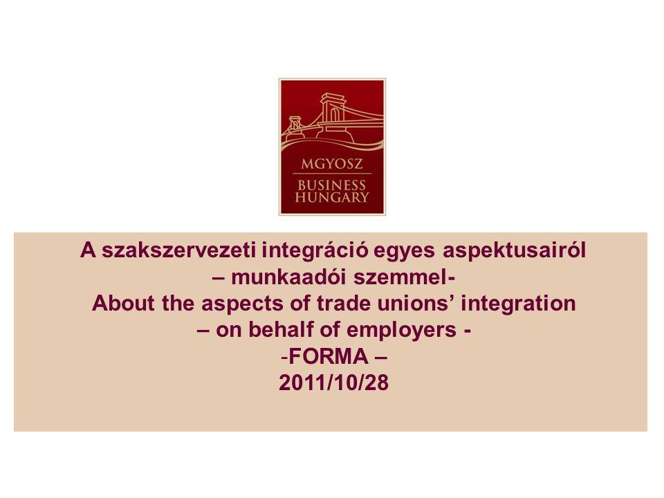 verseny a szakszervezetek között – kinek jó.competing trade unions – who' s interest.
