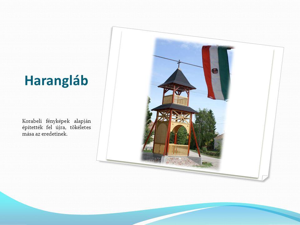 Harangláb Korabeli fényképek alapján építették fel újra, tökéletes mása az eredetinek.