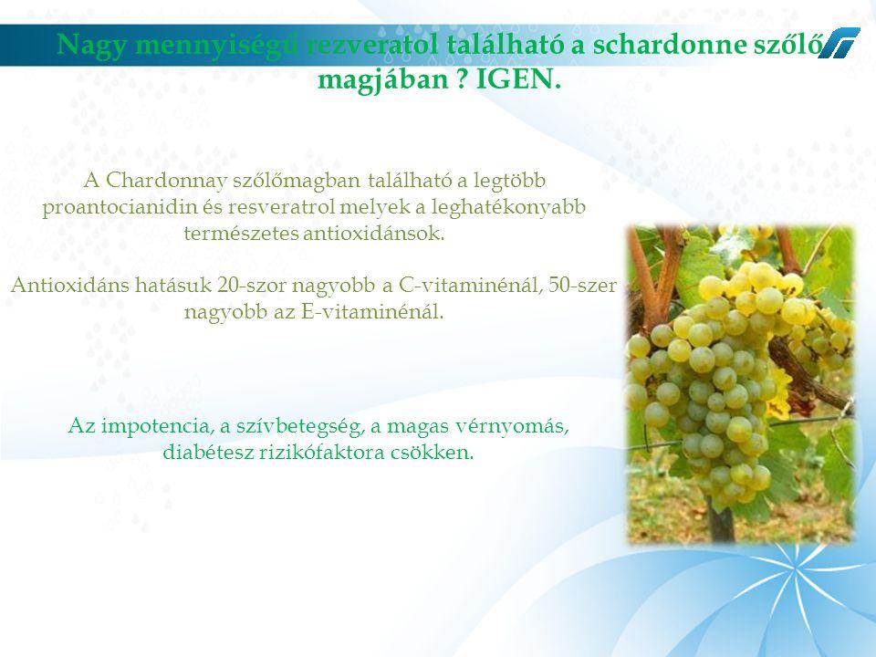 Nagy mennyiségű rezveratol található a schardonne szőlő magjában .