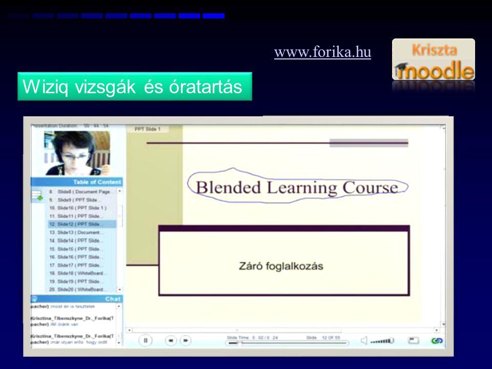 www.forika.hu Wiziq vizsgák és óratartás 10