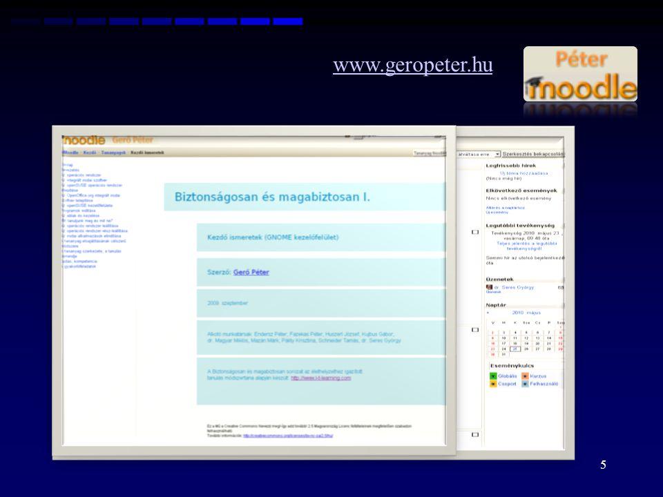 "www.geropeter.hu ""új , saját moodle - kurzusok - eddigiek - újak ""új , saját moodle - kurzusok - eddigiek - újak 6"