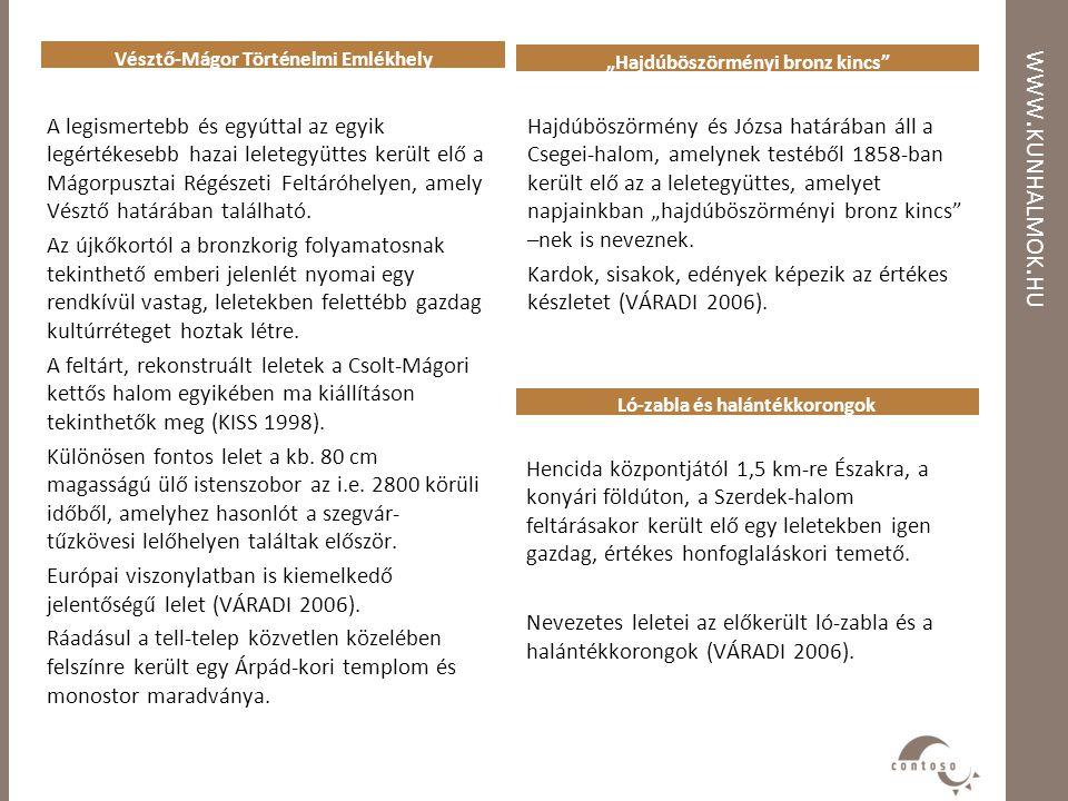 """WWW. KUNHALMOK. HU """"Hajdúböszörményi bronz kincs"""" Vésztő-Mágor Történelmi Emlékhely Hencida központjától 1,5 km-re Északra, a konyári földúton, a Szer"""