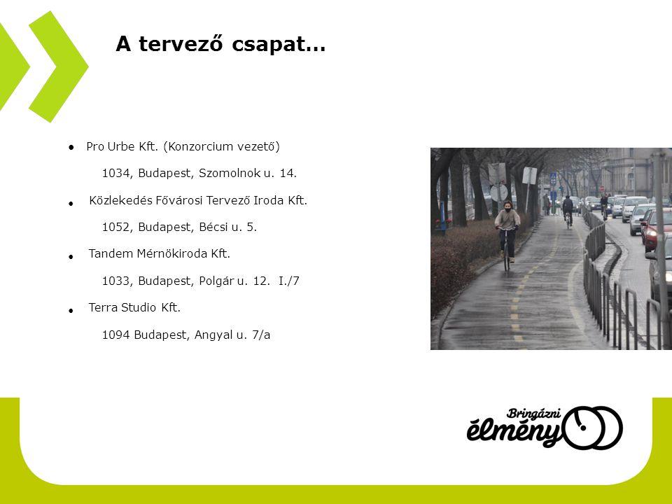 A tervező csapat… ● Pro Urbe Kft.(Konzorcium vezető) 1034, Budapest, Szomolnok u.
