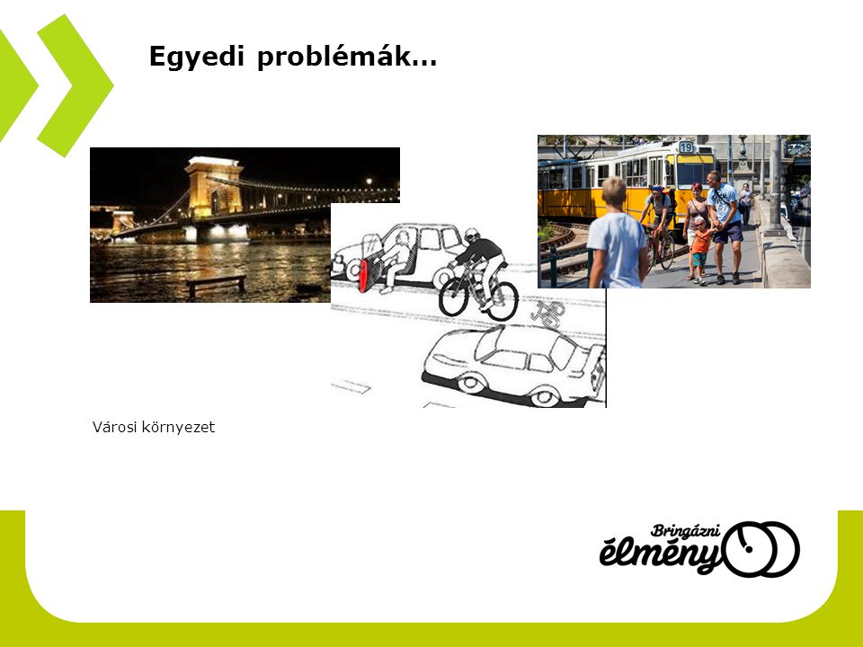 Városi környezet Egyedi problémák…