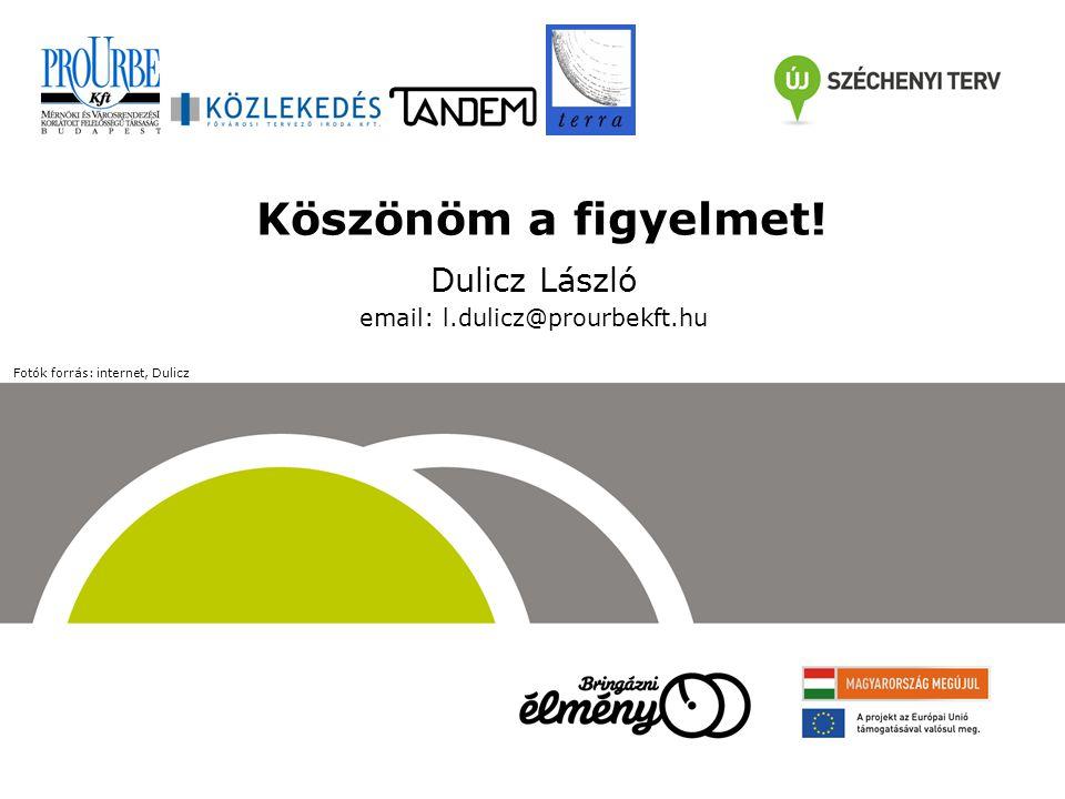 Köszönöm a figyelmet! Dulicz László email: l.dulicz@prourbekft.hu Fotók forrás: internet, Dulicz
