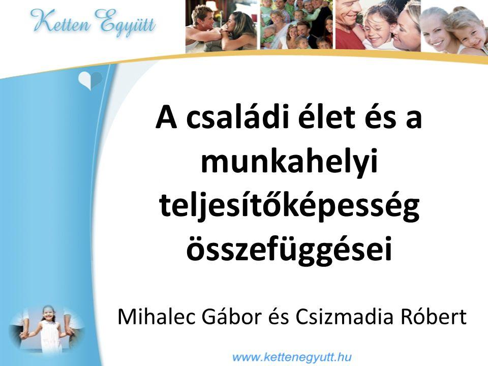 A családi élet és a munkahelyi teljesítőképesség összefüggései Mihalec Gábor és Csizmadia Róbert