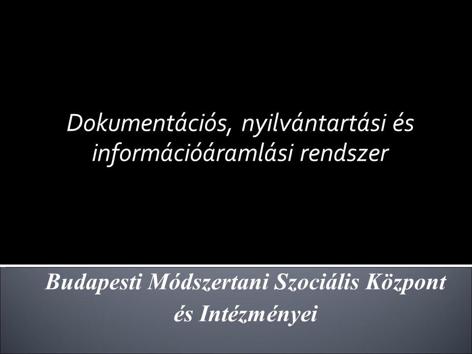 Dokumentációs, nyilvántartási és információáramlási rendszer Budapesti Módszertani Szociális Központ és Intézményei