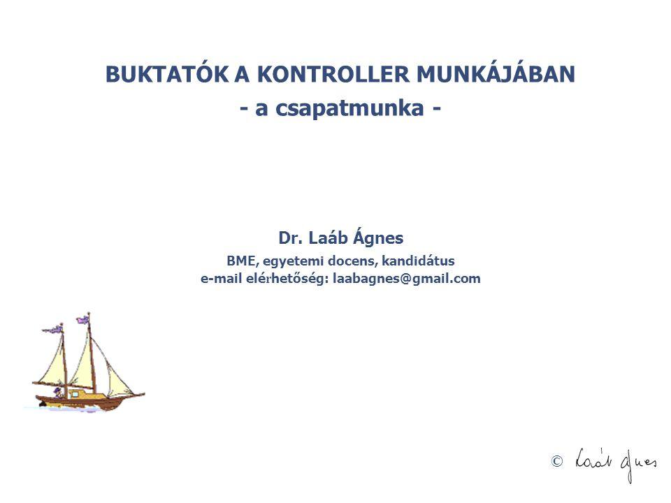© BUKTATÓK A KONTROLLER MUNKÁJÁBAN - a csapatmunka - Dr. Laáb Ágnes BME, egyetemi docens, kandidátus e-mail elé r hetőség: laabagnes@gmail.com