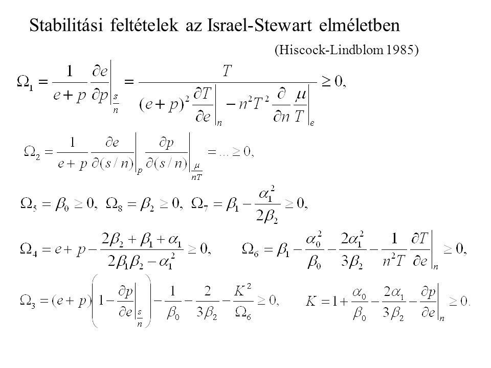 Speciális relativisztikus folyadékok (Eckart): Eckart tag Általános, együttmozgó mennyiségekkel kifejezve.
