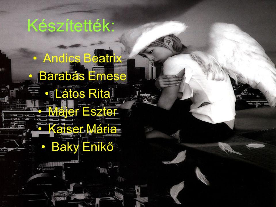 Készítették: •Andics Beatrix •Barabás Emese •Látos Rita •Májer Eszter •Kaiser Mária •Baky Enikő